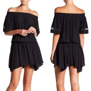Ramy Brook Jessica Off-Shoulder Dress in Black